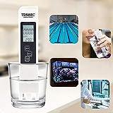 Litthing 3 en 1 Medidor de Prueba de Calidad del Agua Medidor TDS EC Pluma de Prueba de Temperatura...